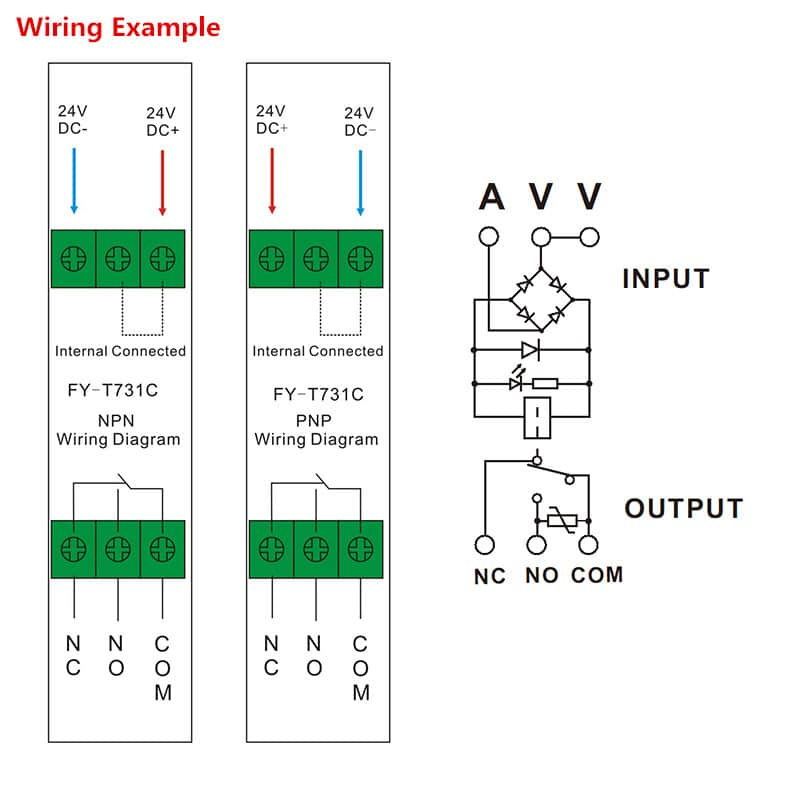 Interface Relay Module FY T731 Wiring Diagram