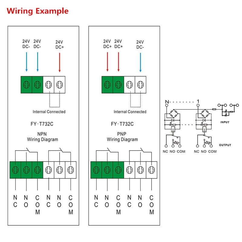 Interface Relay Module FY T732 Wiring Diagram