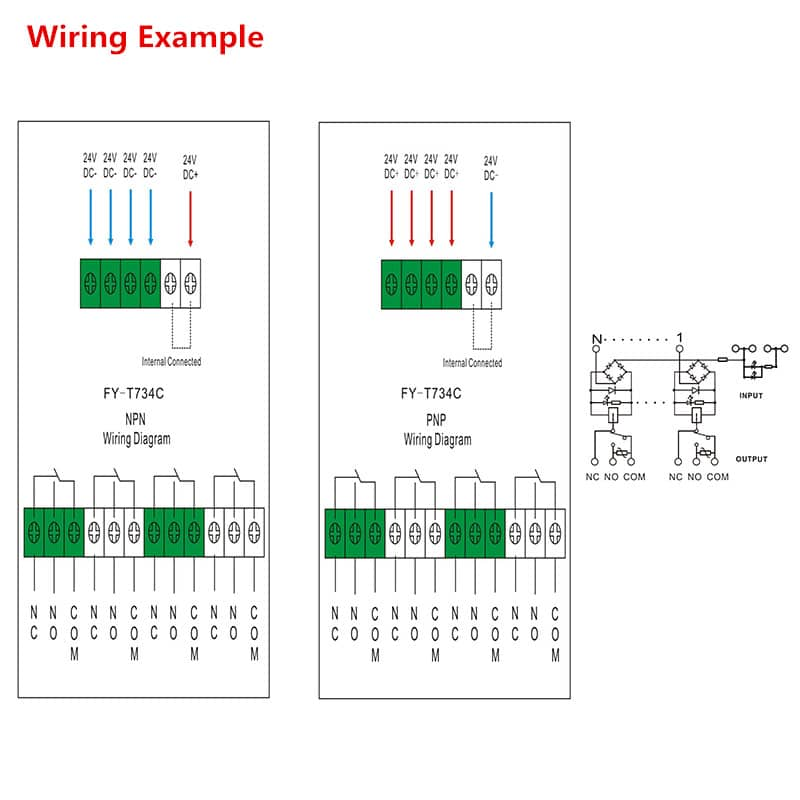 Interface Relay Module FY T734 Wiring Diagram